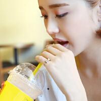 欧丁s925纯银花朵戒指女开口食指学生日韩国时尚简约甜美生日饰品H058