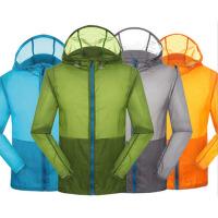 户外防紫外线防水薄防风衣 运动休闲情侣服装 皮肤风衣