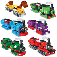 兼容乐高小颗粒拼装小火车模型拼插积木儿童组装轨道男孩玩具