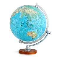 博目地球仪:30cm中英文地形政区双画面地球仪(LED感应灯光型)3006