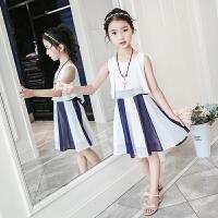 女童连衣裙夏季中大童公主裙新款小女孩韩版礼服洋气雪纺裙子