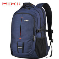 米熙背包男士大学生书包女旅行包旅游包双肩包时尚潮流休闲电脑包