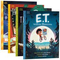 当代电影绘本系列套装4册 ET外星人 英文原版 E.T.the Extra-Terrestrial 小鬼当家 进口英语
