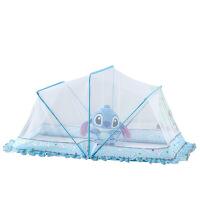 婴儿床蚊帐罩宝宝新生儿蚊帐无底可旋转倒U型折叠有花边儿童蒙古包