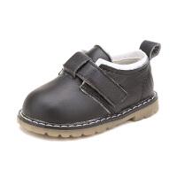 款款熊春季新款儿童小皮鞋休闲1-3岁宝宝鞋子男童软底防滑女童学步鞋潮