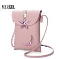 莫尔克新款时尚星星月亮装饰女包迷你小包单肩斜跨小包手机包零钱包