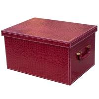 红色汽车收纳箱 后备箱储物盒 车载收纳箱后备箱收纳盒整理箱皮革