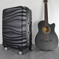 新款大容量拉杆箱水波纹耐磨行李箱铝框密码登机箱包户外休闲旅行箱潮流百搭万向轮皮箱子