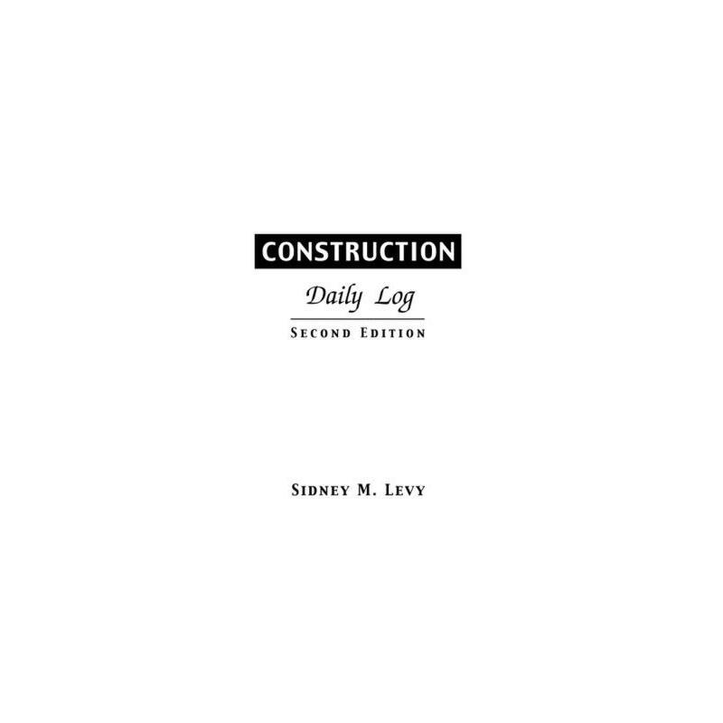 【预订】Construction Daily Log 预订商品,需要1-3个月发货,非质量问题不接受退换货。