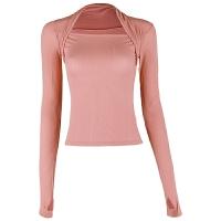 运动上衣女长袖t恤紧身性感高弹舞蹈瑜伽服跑步训练健身衣