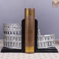 欧式书立书靠书房摆件古罗马竞技场斗兽场凯旋门书挡装饰工艺摆设
