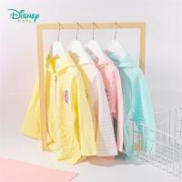 迪士尼Disney童装 女童纯棉连帽外套迪斯尼宝宝薄款透气上衣年春季新品甜美衣服