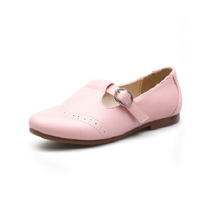 比比我童鞋2017新款女童单鞋秋季中童公主鞋平底学生鞋韩版小皮鞋