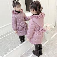 女童棉衣2018新款冬装儿童中长款加厚外套韩版小女孩洋气棉袄