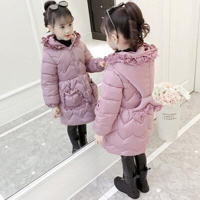 女童棉衣2018新款冬装儿童中长款加厚外套韩版小女孩洋气棉袄 发货周期:一般在付款后2-90天左右发货,具体发货时间请以与客服协商的时间为准