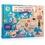 英文原版绘本 七大洲 The Seven Continents Of The World 儿童科普百科翻翻书 世界地图