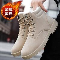 马丁靴男士2019新款冬季加棉高帮鞋子中帮男靴工装皮靴雪地男鞋