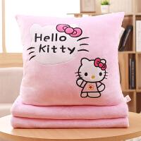 可爱抱枕枕头珊瑚绒毯子被子两用靠垫汽车空调被子毛绒捂手枕午睡