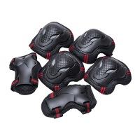 儿童轮滑长板护具成年人旱冰溜冰鞋骑行平衡车牛头护膝肘六件套装