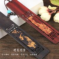木质古风书签古典中国风 礼盒套装创意文创礼物 复古文具高档礼品