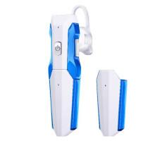 D8 变形金刚无线蓝牙耳机4.1挂耳式运动开车载双电池蓝牙耳机通用SN0692 D8 白蓝 标配
