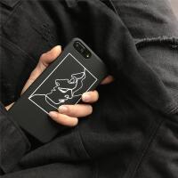 艺术几何线条人物简约iPhone7 plus手机壳苹果6s磨砂硬壳5s保护套 5/5s硬壳-- 艺术 线条人物