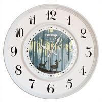 北欧挂钟客厅个性创意时尚静音钟表现代简约装饰时钟家用大气黄色 BD8285WSY 20英寸