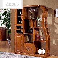 ZUCZUG实木玄关柜隔断柜 中式酒柜间厅厅柜 双面屏风柜装饰柜客厅家具 框架结构 框架结构