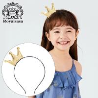 皇家莎莎儿童发箍可爱超萌公主皇冠发饰甜美女童女孩发卡头饰防滑