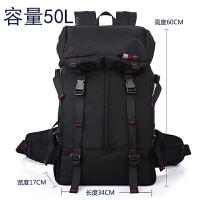 双肩包男大容量旅游出差运动户外休闲多功能登山包行李背包旅行包 黑色