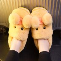 棉拖鞋女带后跟冬季包跟棉拖鞋女可爱卡通韩版毛绒厚底室内居家用带后跟保暖棉鞋AAA