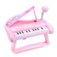 儿童电子琴带麦克风女孩入门小钢琴宝宝多功能可弹奏音乐玩具礼物 充电版