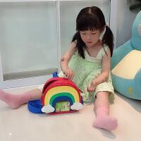 儿童彩虹双肩背包宝宝1-3-6岁度假出游防水可爱书包幼儿园小包包