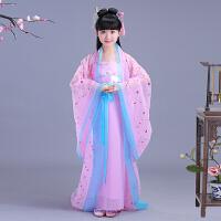 儿童古代仙女服装女童中国风汉服古筝演出舞蹈服公主古装表演服夏