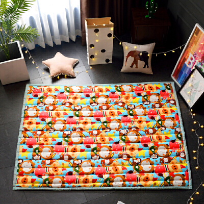 全棉 加厚婴儿童地垫爬爬垫 宝宝爬行垫游戏地毯防滑卧室客厅纯棉