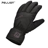 法国伯希和户外滑雪手套 男女冬季防水防风加厚保暖骑行棉手套