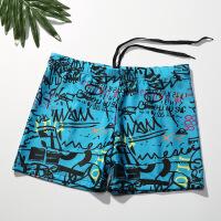 新款男士温泉泳裤12岁青少年14大童15男孩16初中高中学生平角泳衣 艺术涂鸦