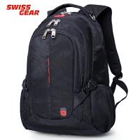 瑞士军刀SWISSGEAR正品14-15.6英寸男女士户外休闲商务双肩电脑多功能大容量背包