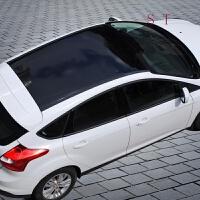 汽车车顶膜 仿全景天窗膜 改装亮黑贴膜