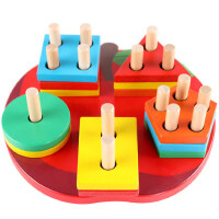 儿童启蒙早教女男孩子宝宝益智力形状配对积木玩具1-2-3-4周岁半