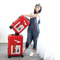 复古拉杆箱女小清新行李箱韩版万向轮密码箱20寸24可爱学生旅行箱