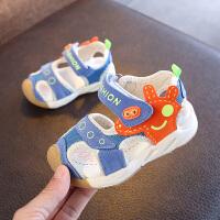 2018夏季新款儿童鞋子男童软底包头凉鞋女童机能鞋婴童防滑学步鞋
