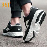 361运动鞋男鞋春季新款复古跑步鞋防滑缓震皮面耐磨防滑运动鞋