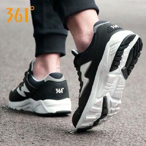 【每满100减50】361运动鞋男鞋春季新款复古跑步鞋防滑缓震皮面耐磨防滑运动鞋