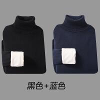№【2019新款】小伙子穿的高领毛衣男士韩版修身针织衫男生长袖打底衫潮款冬 +蓝色加厚