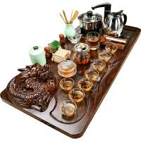 美阁紫砂功夫茶具套装家用客厅简约陶瓷泡茶杯小茶台茶道实木茶盘