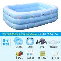 20180816000846903婴儿游泳池宝宝家用水池保温加厚新生儿婴幼儿童充气游泳桶