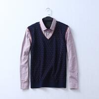 612 男装 冬季新款加绒保暖范南长袖商务男式休闲衬衫