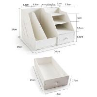 20180712102335434文件桌面上三合一办公桌上用品上放增空间木质架子书桌多功能文件整理桌面支架写字台 带抽