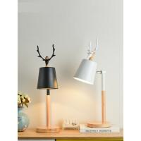 【支持礼品卡】北欧原木客厅台灯现代简约卧室床头灯具小鸟鹿子客厅书房灯4gb